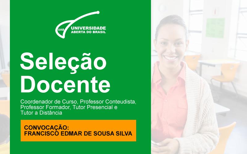 Convocação de Francisco Edmar de Sousa Silva