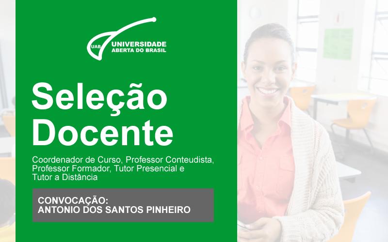 Convocação de Antonio dos Santos Pinheiro
