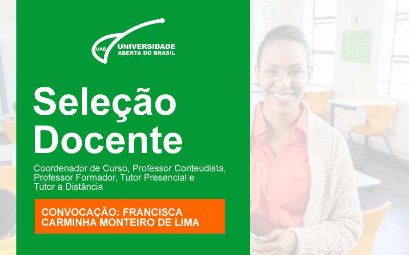 Convocação de Francisca Carminha Monteiro de Lima